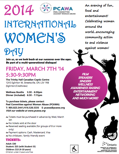 international womens day flyer